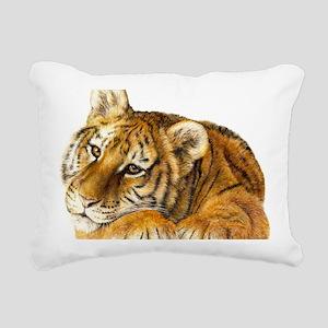 young tiger Rectangular Canvas Pillow
