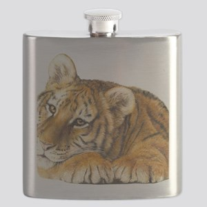 young tiger Flask