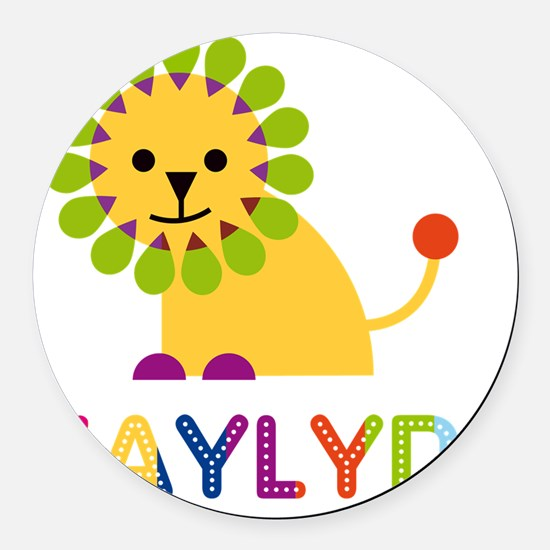Kaylyn-the-lion Round Car Magnet