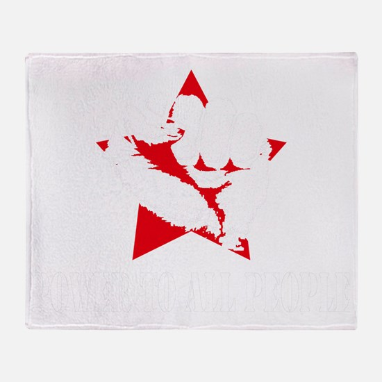 Power To All People Shirt Throw Blanket