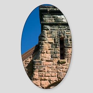 Charlottetown. Historic red stone b Sticker (Oval)