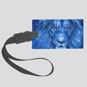 Winter Lion Large Luggage Tag