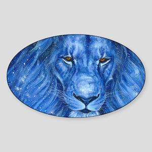 Winter Lion Sticker (Oval)