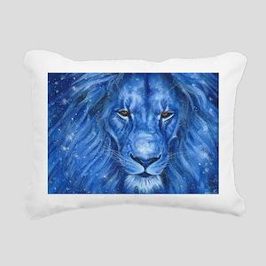Winter Lion Rectangular Canvas Pillow