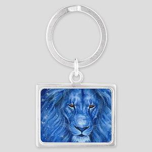 Winter Lion Landscape Keychain