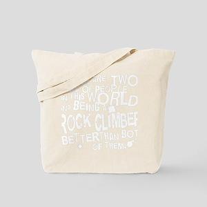 rock_climber_white Tote Bag