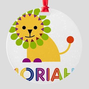 Moriah-the-lion Round Ornament