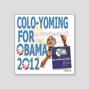 "Coloyoming O v2 template Square Sticker 3"" x 3"""