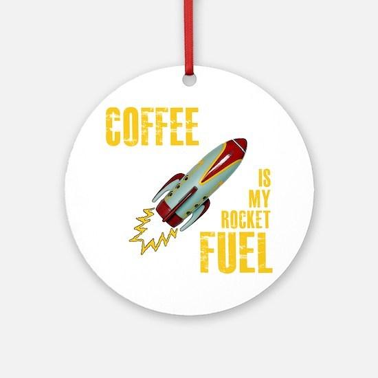 rocket_fuel_black Round Ornament
