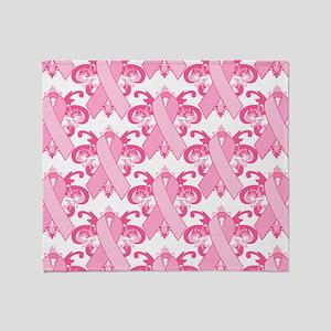 PinkRibHLLLPtrMp Throw Blanket