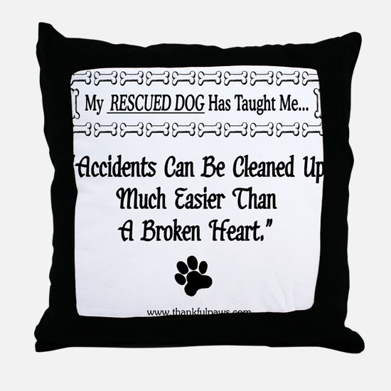 Accidents Can Be Cleaned Up Throw Pillow