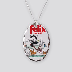 flying fish Necklace Oval Charm