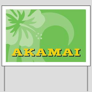 Akamai-laptopskin Yard Sign