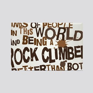 rock_climber_brown Rectangle Magnet