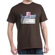 Chauvinistic Vegan Male Pig Dark T-Shirt