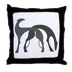 Hounds Pillow Charcoal