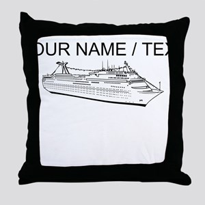 Custom Cruise Ship Throw Pillow