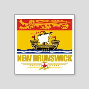 "New Brunswick Flag (Flag 10 Square Sticker 3"" x 3"""