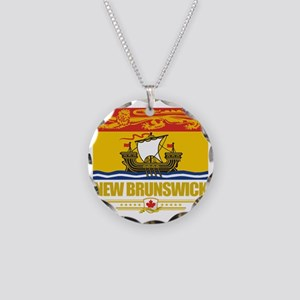New Brunswick Flag (Flag 10) Necklace Circle Charm