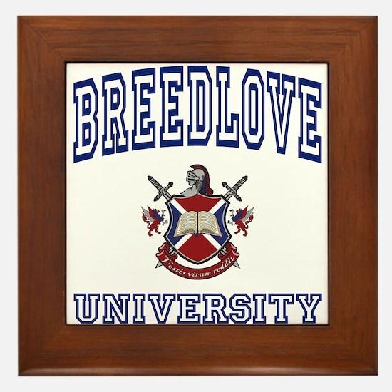 BREEDLOVE University Framed Tile