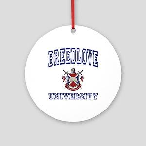 BREEDLOVE University Ornament (Round)