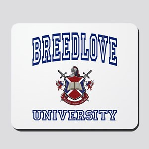 BREEDLOVE University Mousepad