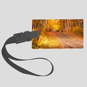 AutumnFoliageRural_4X6_postcard Large Luggage Tag