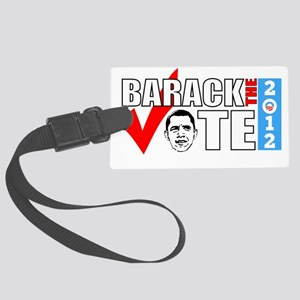 Barack the Vote Face Large Luggage Tag