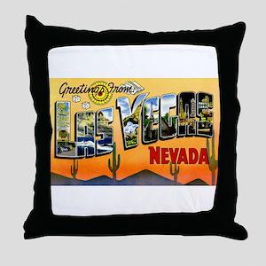 Las Vegas Nevada Greetings Throw Pillow