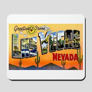 Las Vegas Nevada Greetings Mousepad