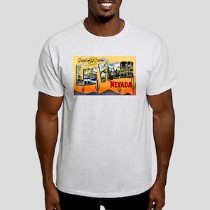 Las Vegas Nevada Greetings (Front) Light T-Shirt