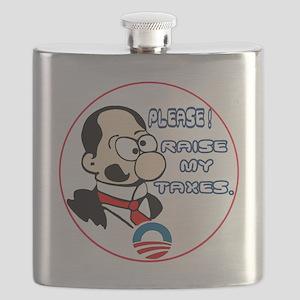 RaiseTaxes-C10trans Flask