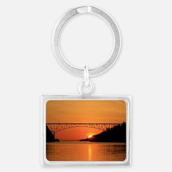Deception Pass Bridge Landscape Keychain