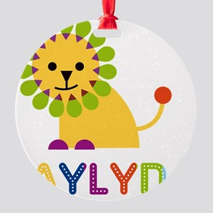 Jaylyn-the-lion Round Ornament