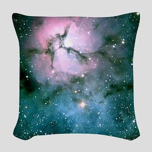trifidNebulaiPad Woven Throw Pillow