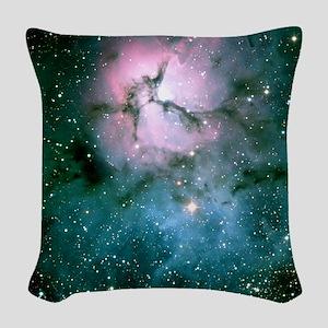 trifidNebulaWLT Woven Throw Pillow