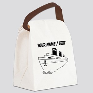 Custom Cruise Ship Canvas Lunch Bag