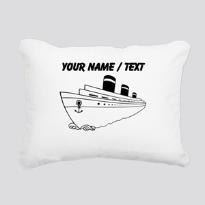 Custom Cruise Ship Rectangular Canvas Pillow