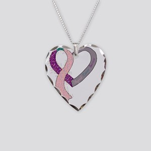 new heart ribbon PTPINK Necklace Heart Charm