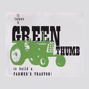 Oliver Green Thumb Throw Blanket