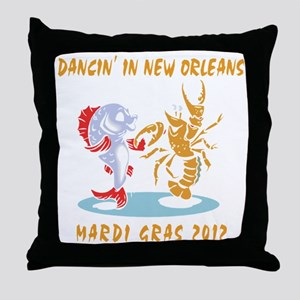 mardi162012Tblack Throw Pillow