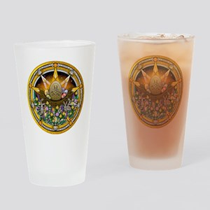 Ostara Pentacle Drinking Glass