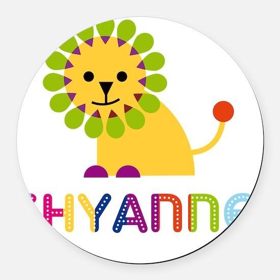 Shyanne-the-lion Round Car Magnet