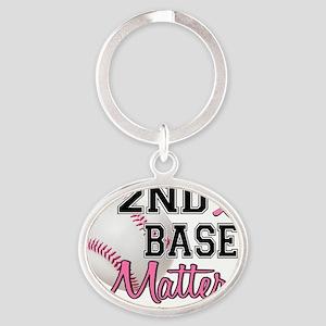 - 2nd Base 16E Oval Keychain