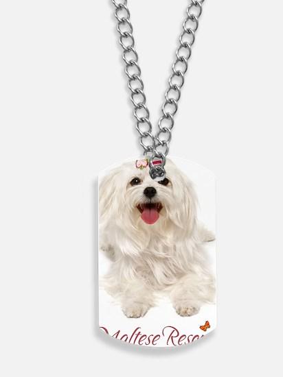 maltese journal Dog Tags