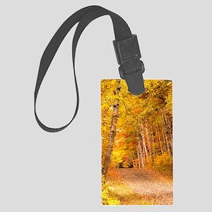 AutumnFoliageRural_Kindle Large Luggage Tag