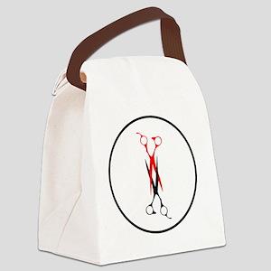 scissors_scissoringina_circl Canvas Lunch Bag