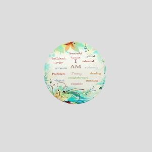 I AM 2 - big square Mini Button