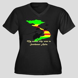 senior trip Women's Plus Size Dark V-Neck T-Shirt