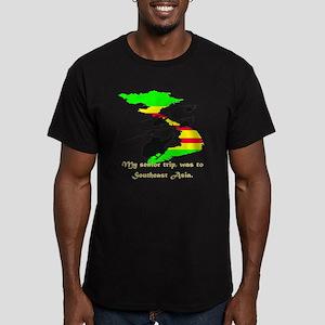 senior trip Men's Fitted T-Shirt (dark)